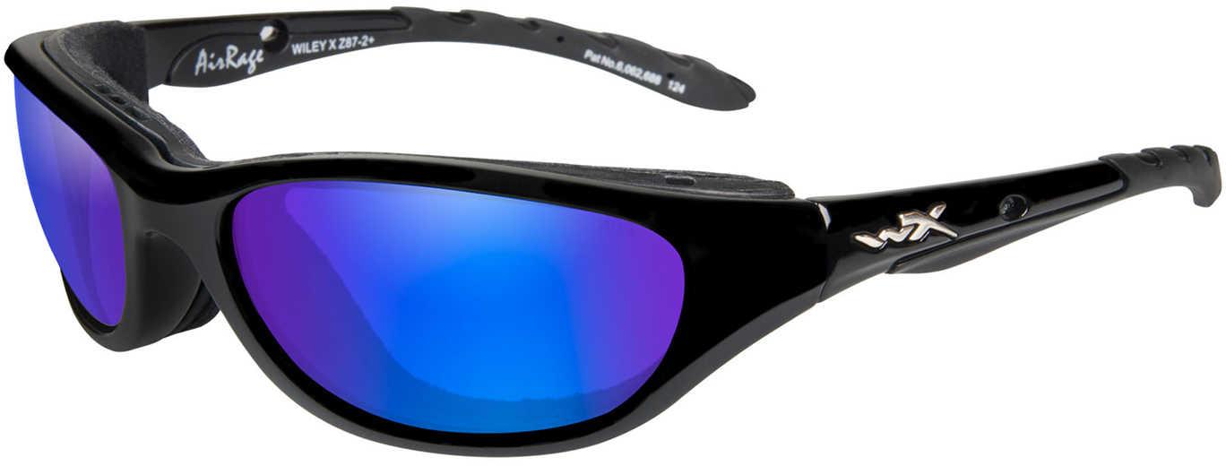 Wiley X Inc. Wiley X Polarized Sunglasses Airrage Blue Mirror Green/Gold Black Md#: 698