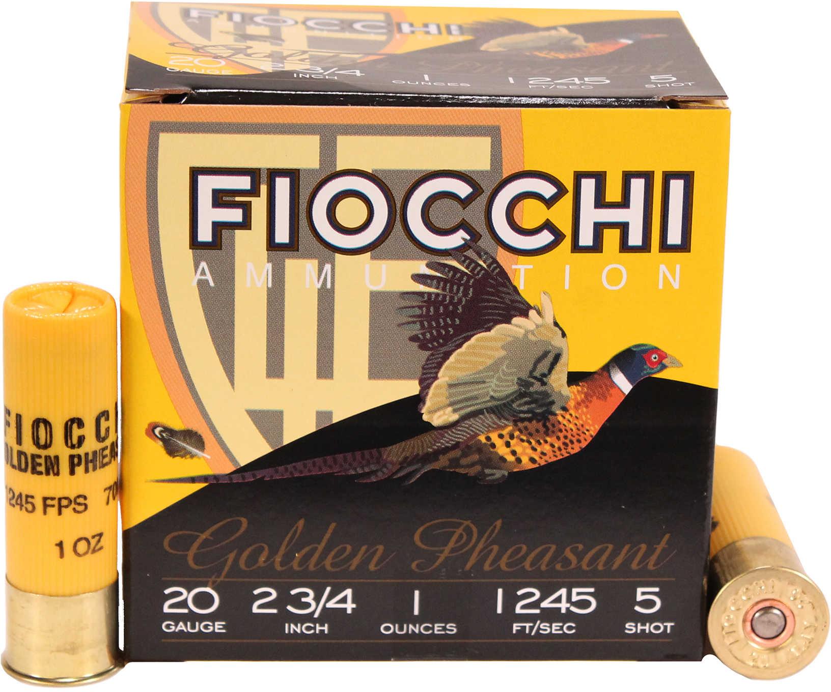 """Fiocchi Ammo Golden Pheasant 20 Gauge 2 3/4"""" 1Oz #5 25 Rounds Ammunition 20GP5"""