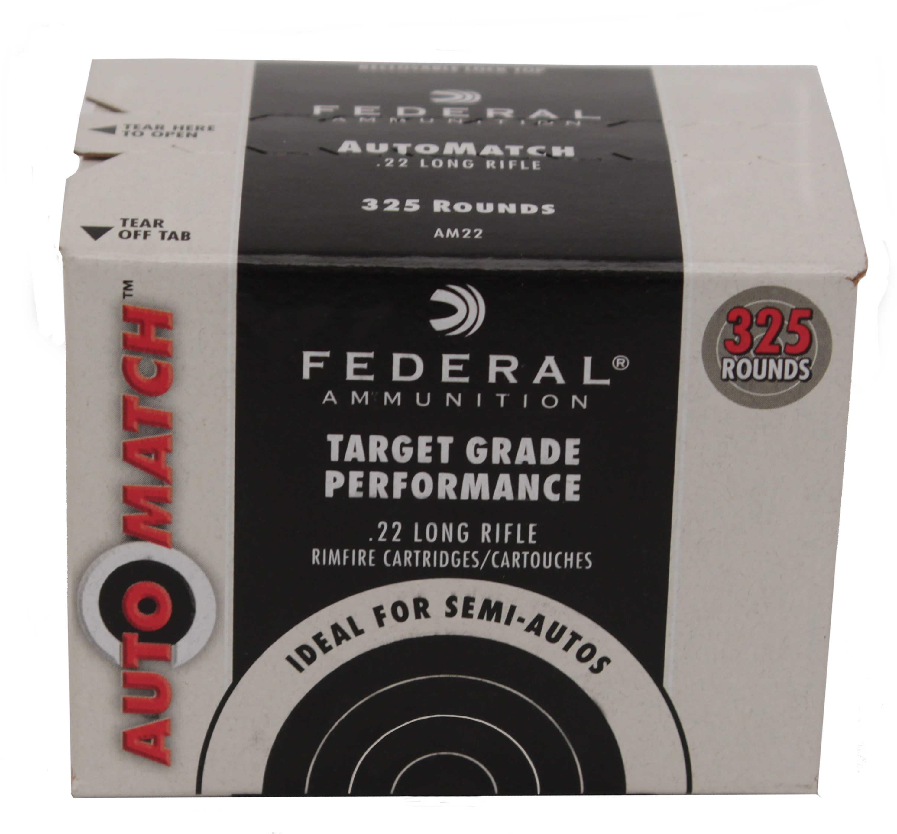 Federal Cartridge AUTOMATCH 22LR Bulk Pack 40 Grains Solid 325 Ammunition AM22