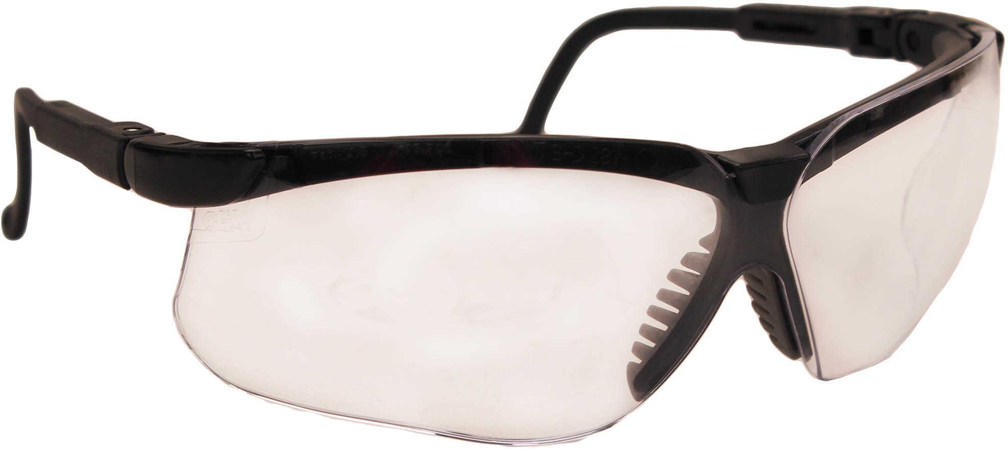 Howard Leight Industries Uvex Genesis Black Frame - Clear Lens Impact resistant polycarbonate lens block 99.9% UVA & UVB - So R03570