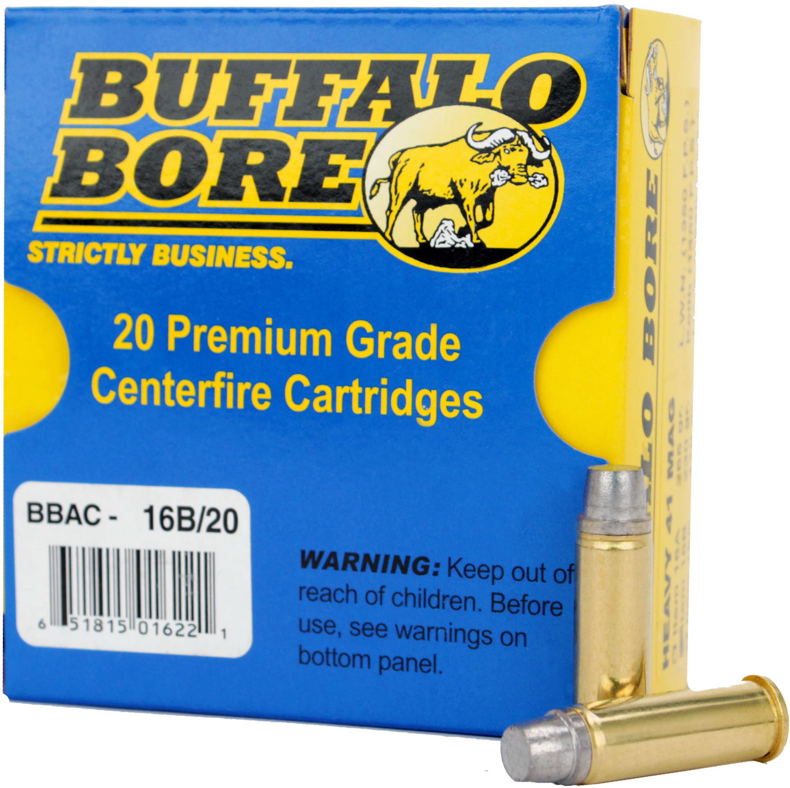 Buffalo Bore Ammunition Handgun 41 Rem Mag Hard Cast 230 Grains 20 Rounds Per Box 16B/20
