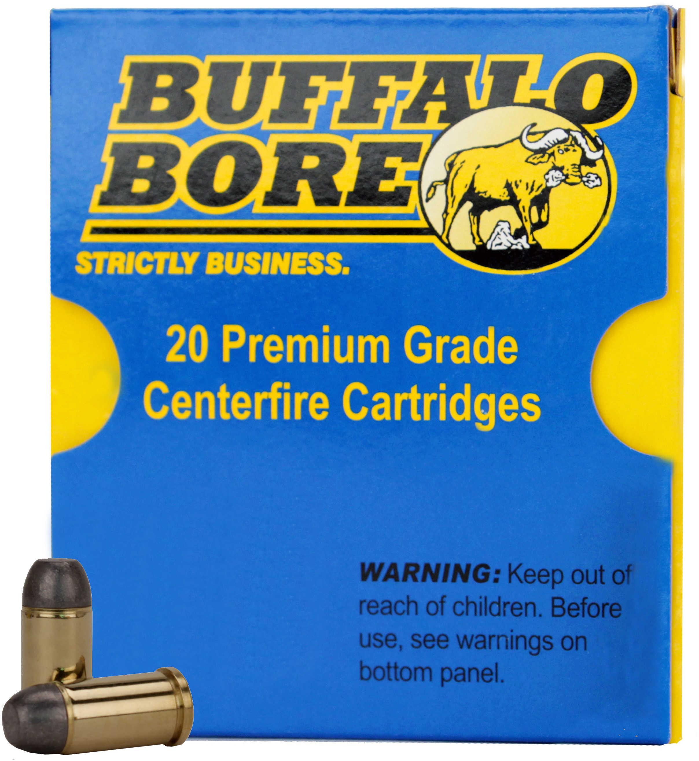 Buffalo Bore Ammunition Handgun 45 Auto Rimmed Hard Cast FN 255 Grains 20 Rounds Per 31A/20