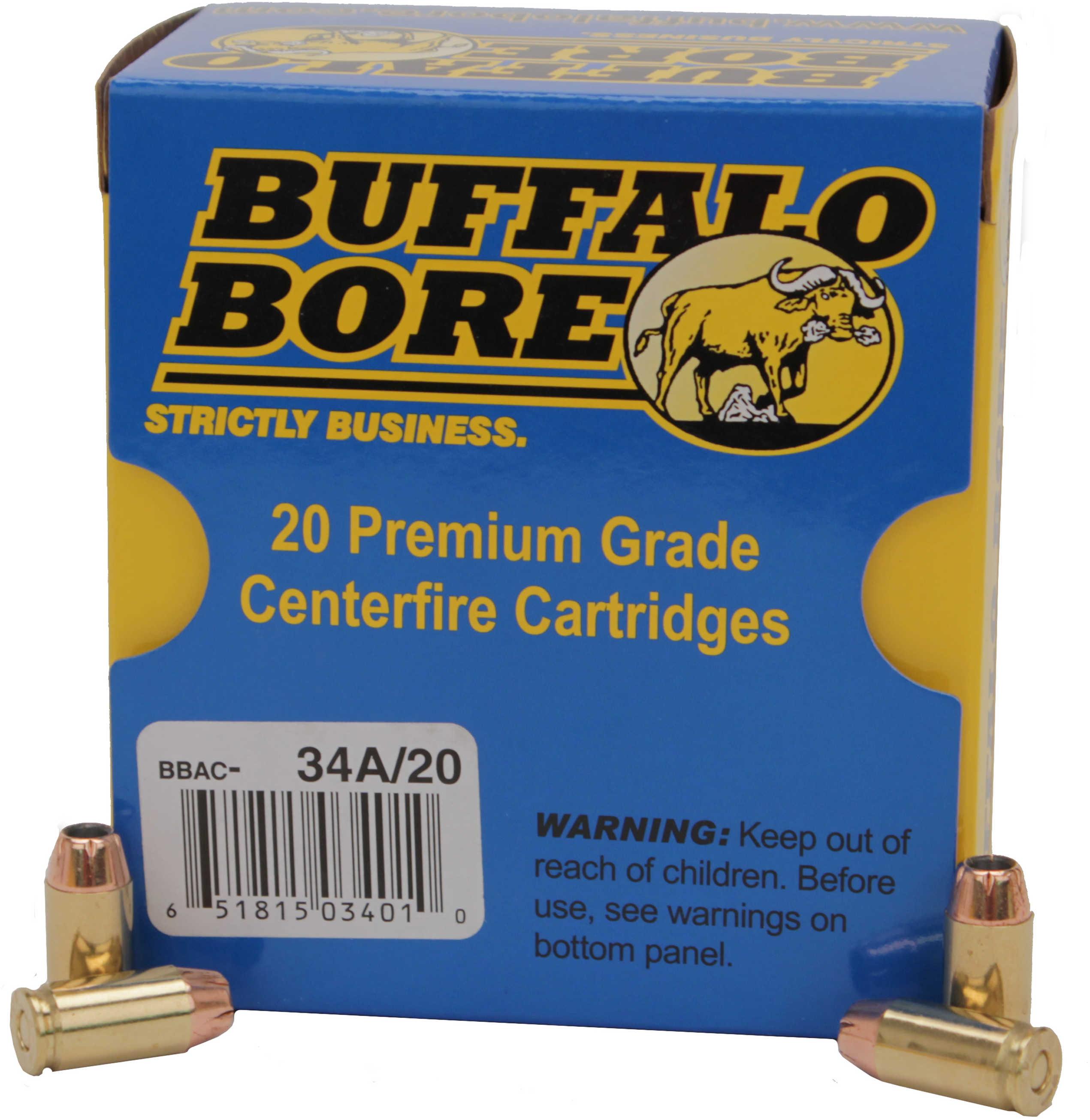 Buffalo Bore Ammunition Handgun 9mm JHP 95 Grains 20 Rounds Per Box 34A/20