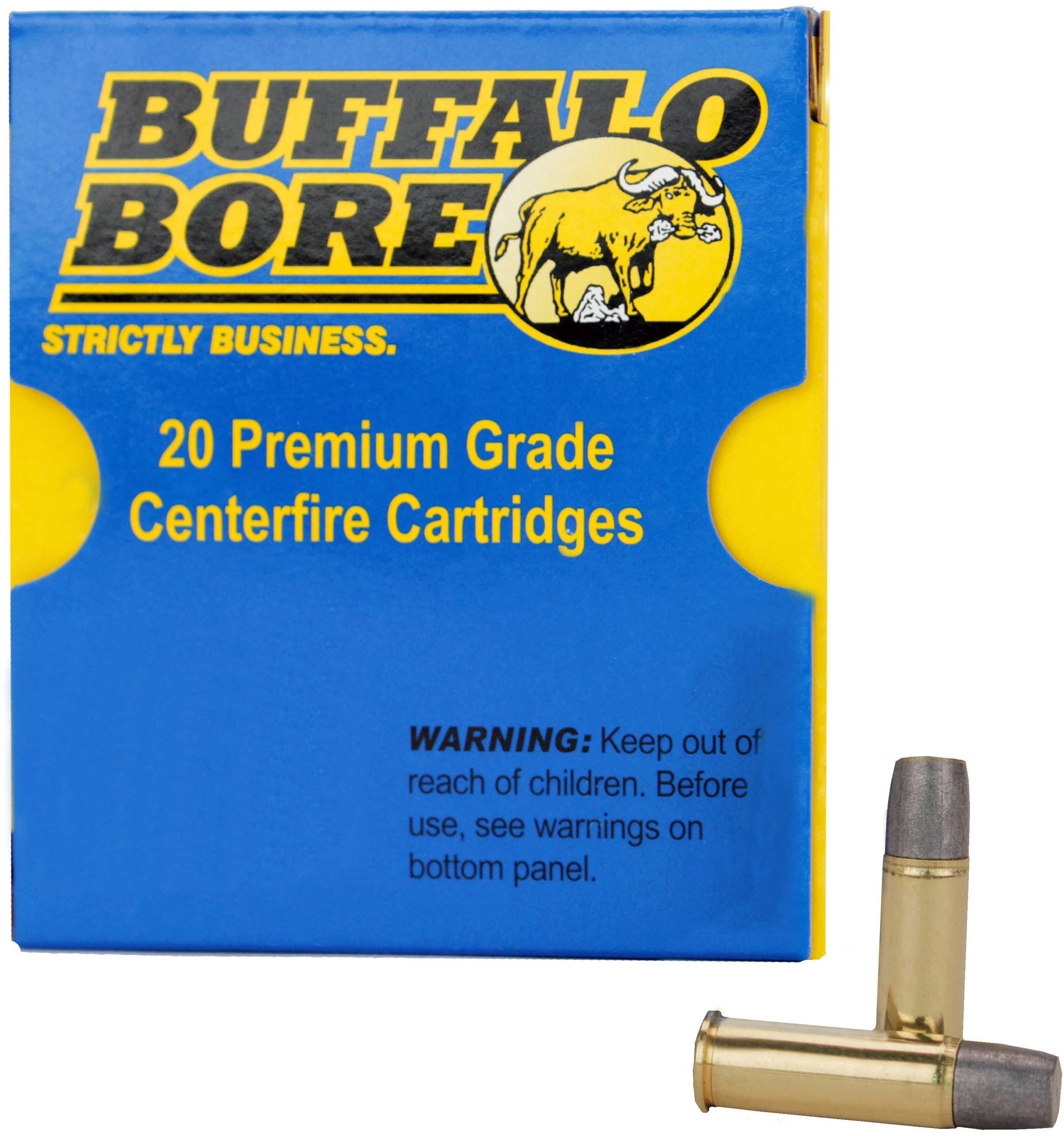 Buffalo Bore Ammunition Handgun 44 Rem Mag Hard Cast 340 Grains 20 Rounds Per Box 4D/20