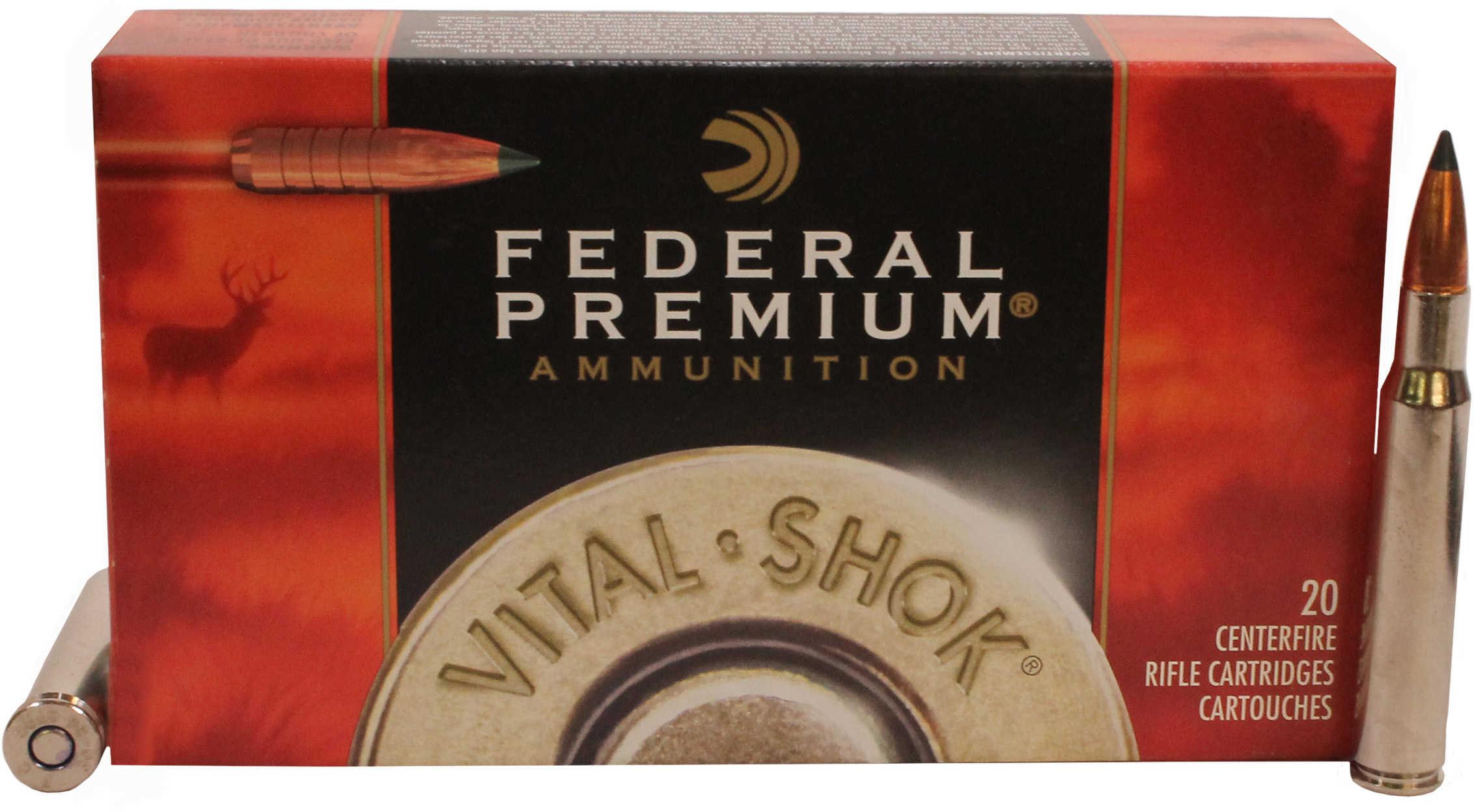 Federal Vital-shok 30-06 Springfield Trophy Copper 180 Grains 2700 Fps 20 Rounds Per Ammunition P3006TC1