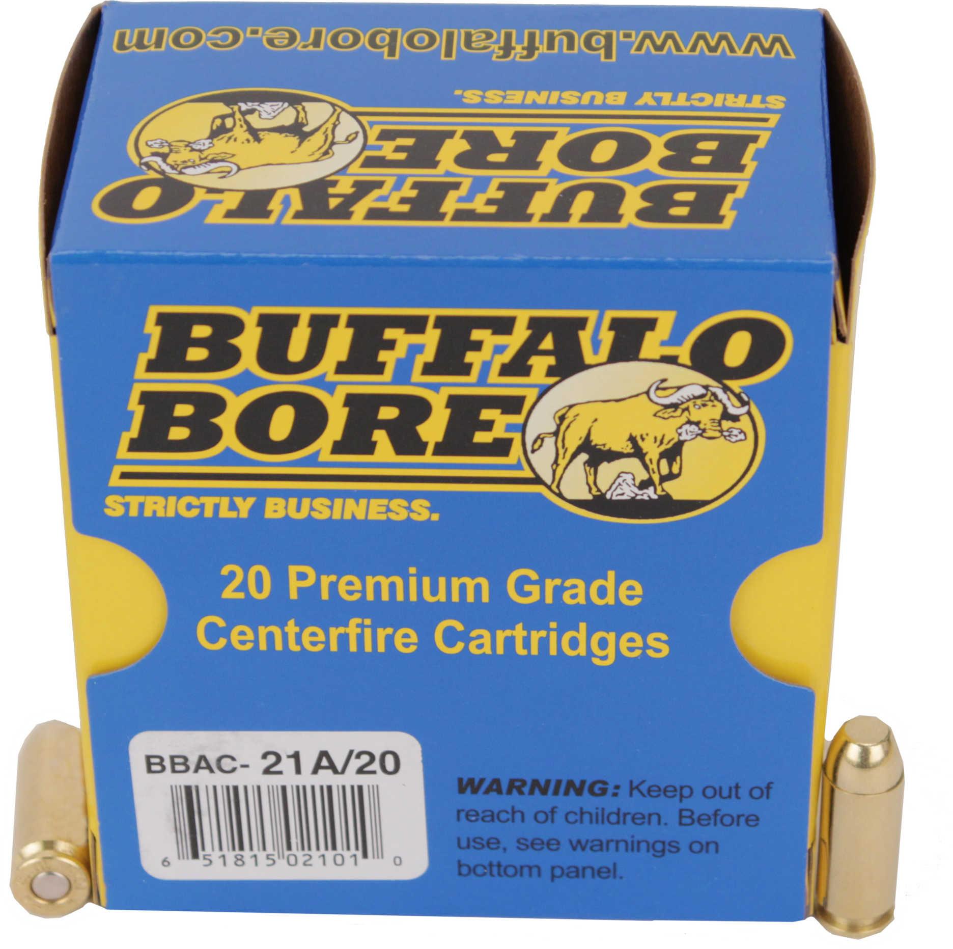 Buffalo Bore Ammunition Handgun 10mm FMJ Flat Nose 200 Grains 20 Rounds Per Box 21A/20