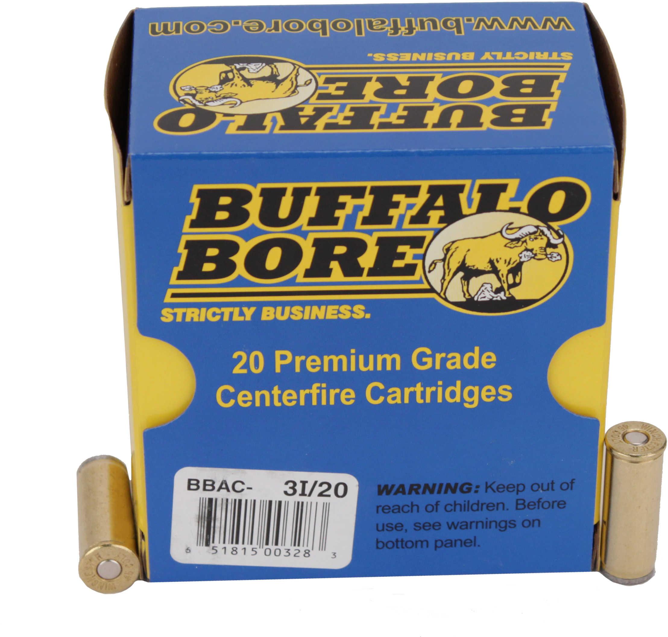 Buffalo Bore Ammunition Handgun 45 Colt Wad Cutter 225 Grains 20 Rounds Per Box 3I/20
