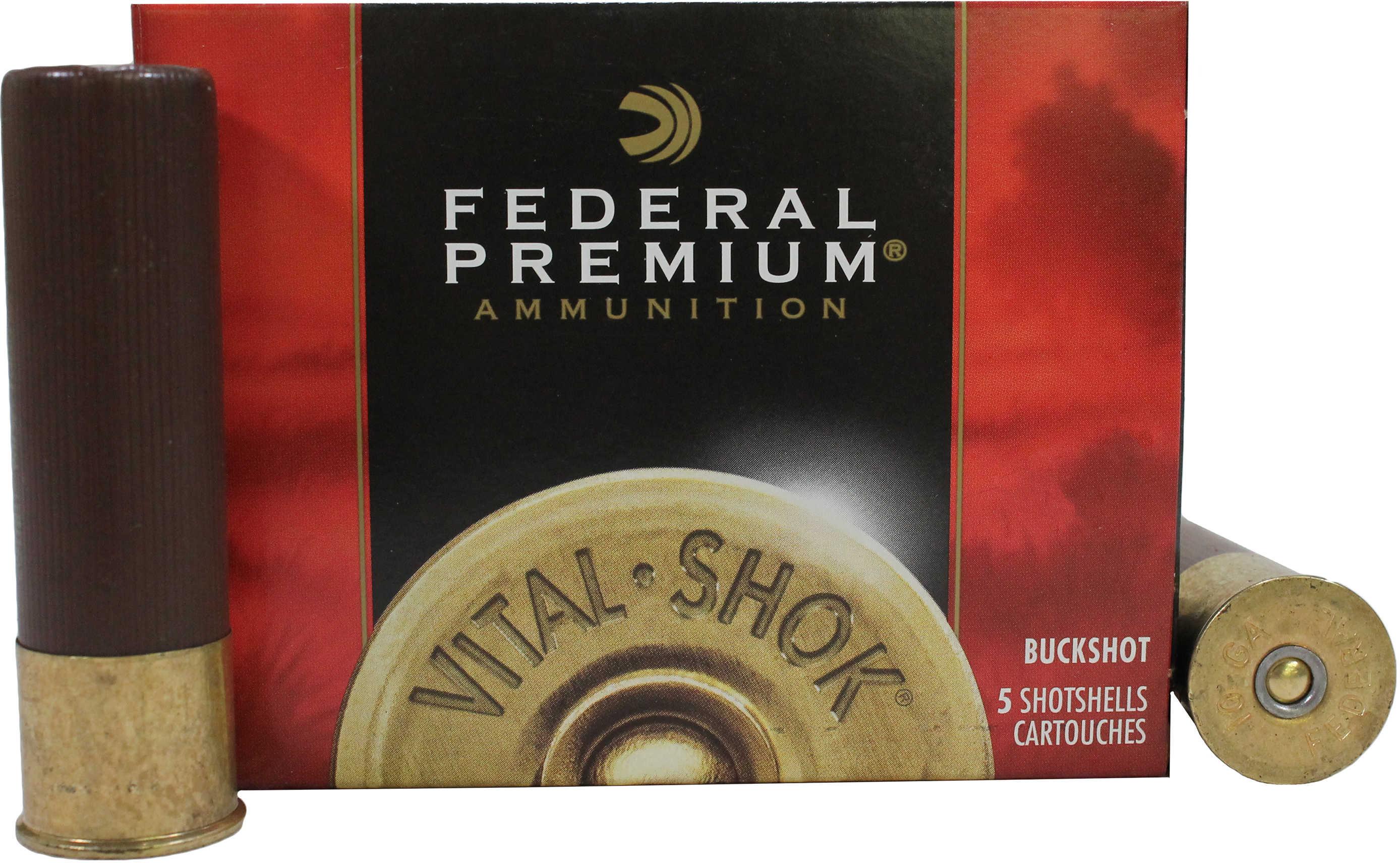 Federal Cartridge 10 Gauge 3.5 Mag 00 Buck per 5 Ammunition P108F00