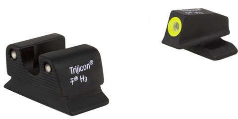 Trijicon Tritium Beretta PX4 HD Green Sights Yellow Outline Black BE11OY