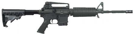 "Windham Weaponry MPC-MA 223 Remington 16"" Barrel 10 Round Black MA Legal Semi Automatic Rifle R16M4A4PTMA"