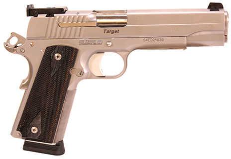 "Sig Sauer 1911 Target 45 ACP 5"" Match Barrel 8 Round Adjustable Sight Wood Grip Satin Stainless Steel Semi Automatic Pistol 191145STGTCA"