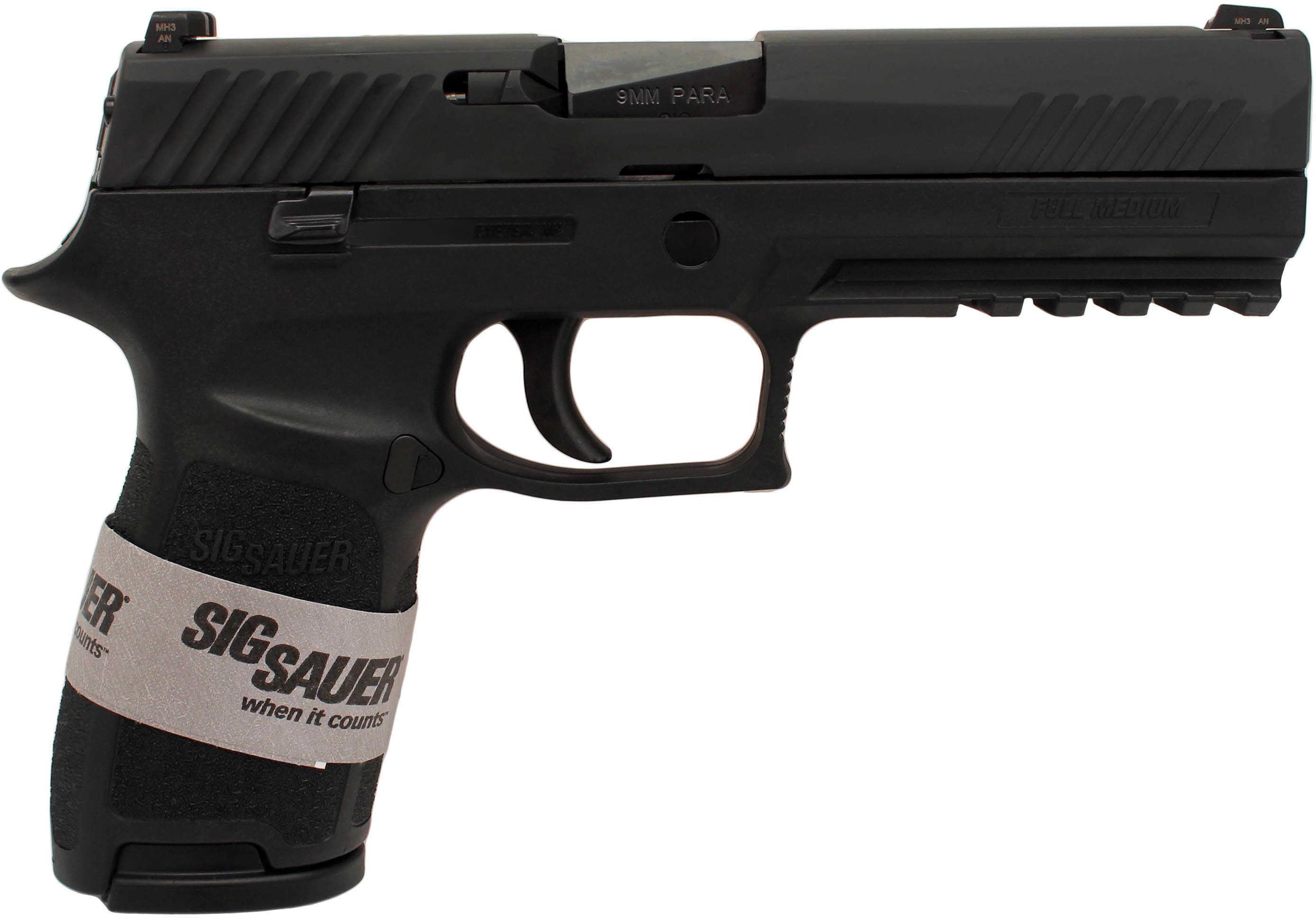 "Sig Sauer P320 Full Size 9mm Luger 4.7"" Barrel 17 Round Black Semi Automatic Pistol 320F9BSS"