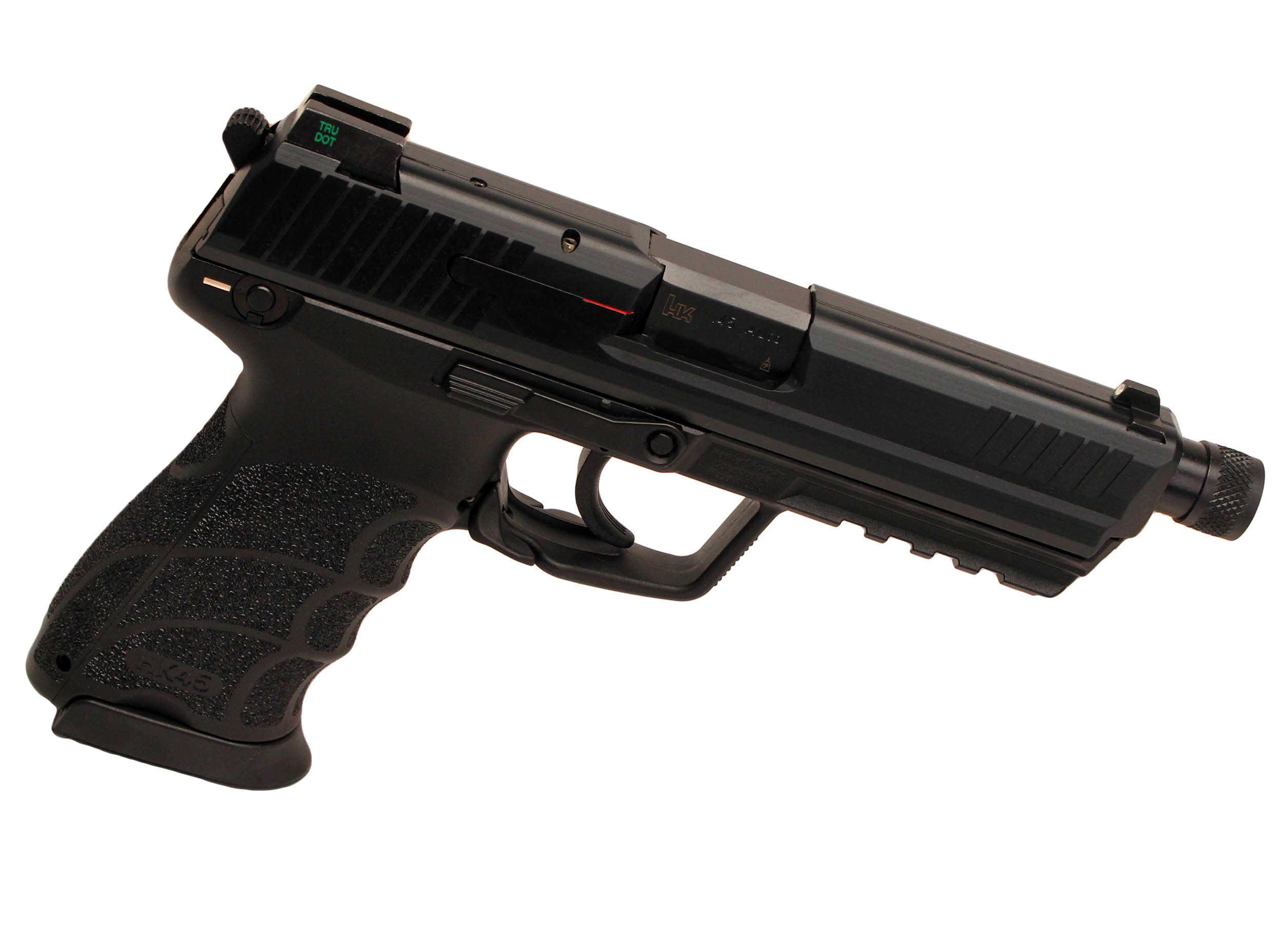 "Heckler & Koch HK45T V1 45 ACP 5.16"" Barrel 10 Round Black Synthetic Grip V1 Double/Single Action Trigger Rail 3 Dot Sights Black Finish Semi Automatic Pistol 745001TA5"