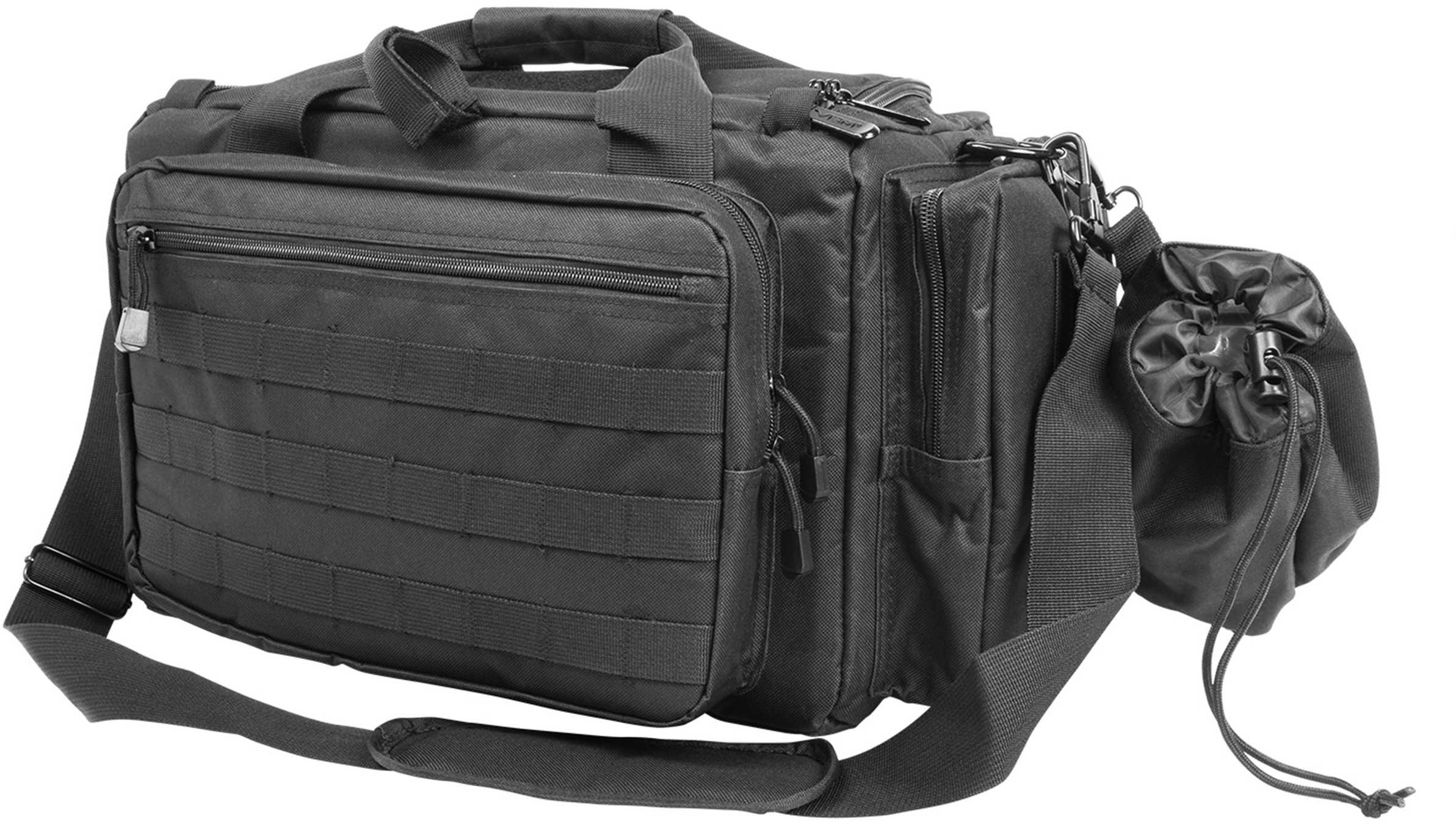 NCSTAR Competition Range Bag Nylon Black Exterior PALS/ MOLLE Webbing Includes Shoulder Strap & Brass Bag CVCRB2950B