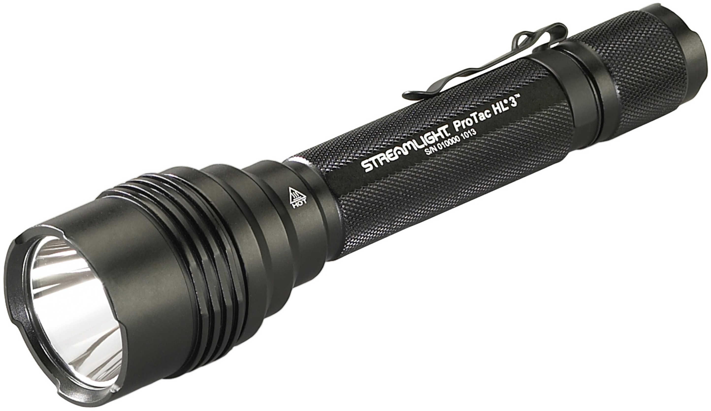 Streamlight HL 3 Pro-Tac Flashlight C4 LED 1 100 Lumens Includes 3 Lithium Batteries Nylon Holster Black Finish 88047