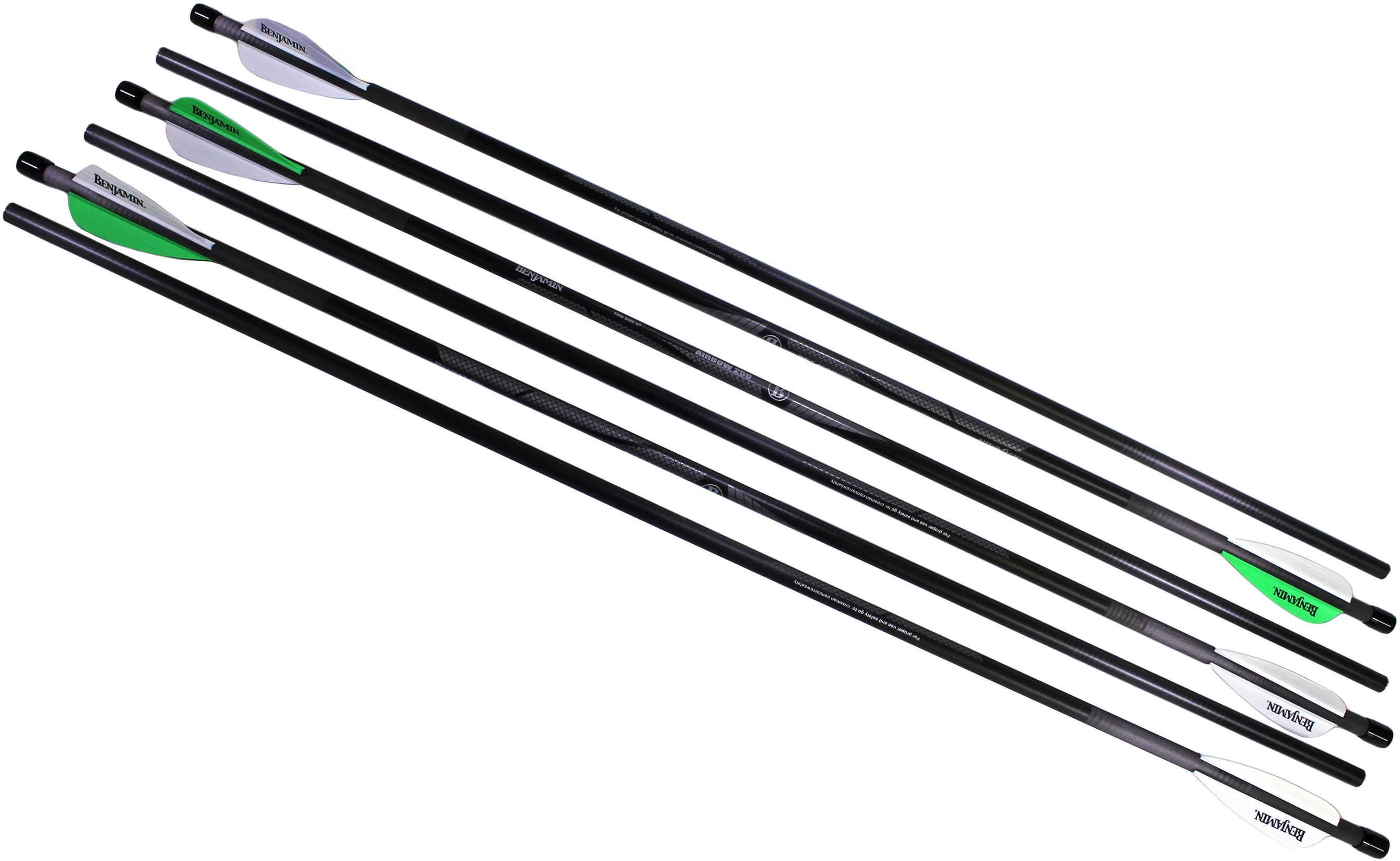 "Benjamin Sheridan Airbow 250 26"" Arrows, 375 Grains, Carbon Fiber, Per 6 Md: AB6PKA"