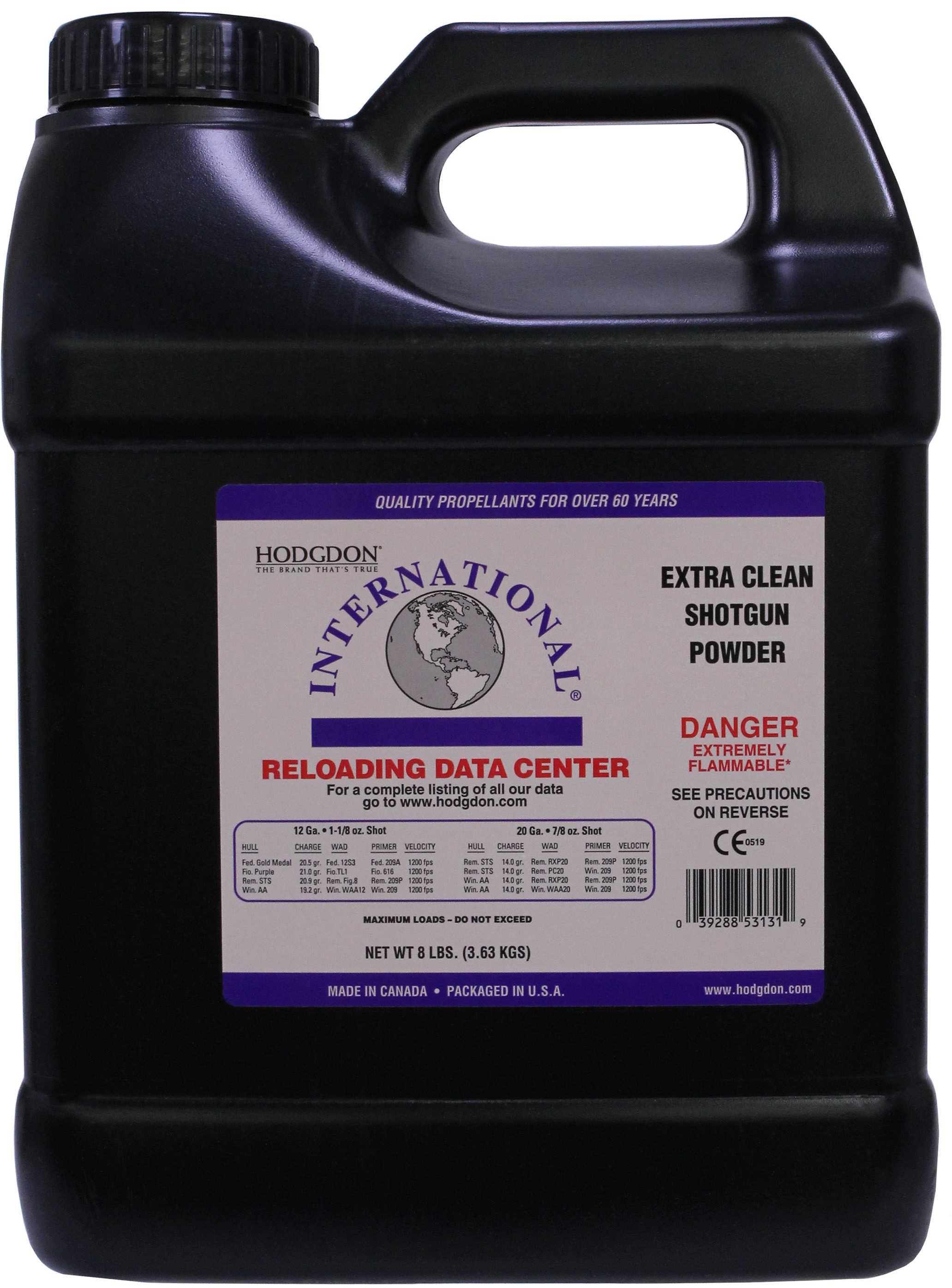 Hodgdon Powder Clays Intl Smokeless 8 Lb