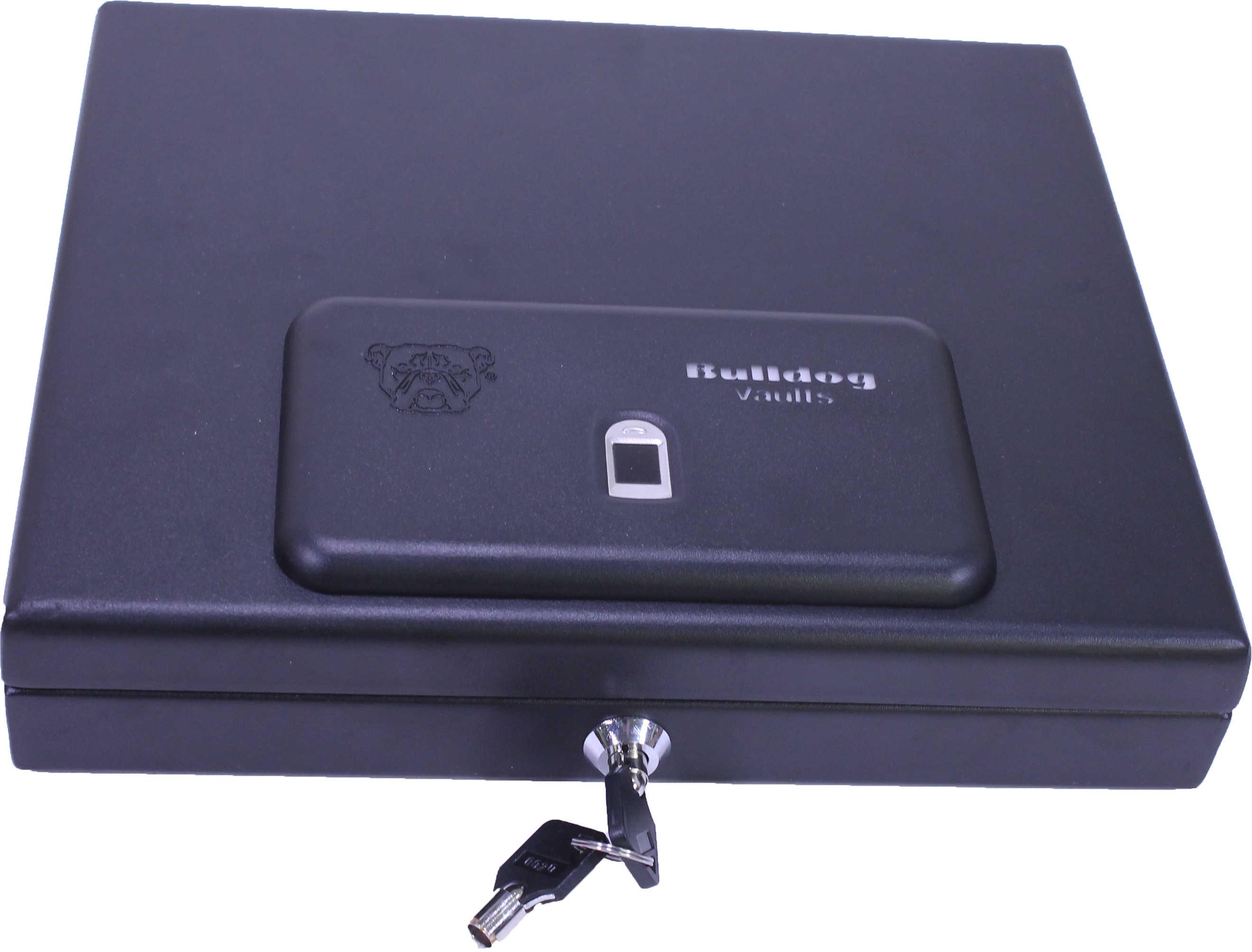 "Bulldog Cases Top Load Pistol Vault 11.5"" x 9.8"" x 2.5"", Biometric Fingerprint, Magnum, Black Md: BD4055B"