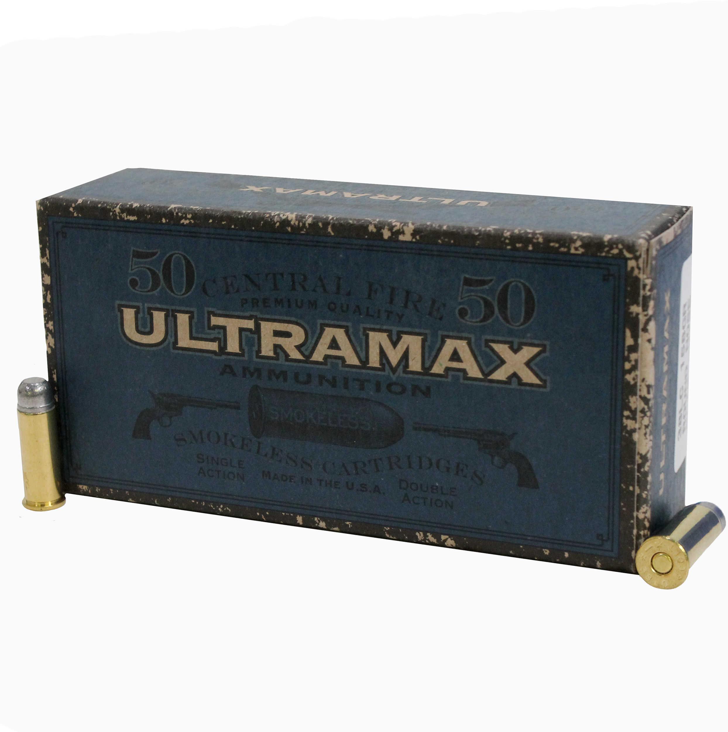 Ultramax 38 Long Colt, 158 Grains, Lead Round Nose Flat Point, Per 50 Md: CB38C1