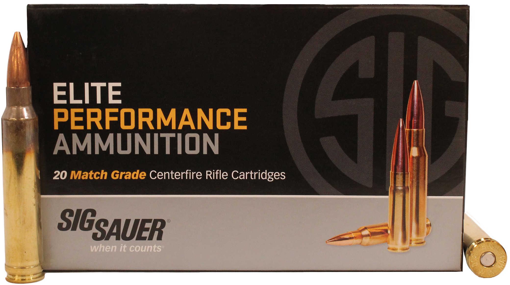 Sig Sauer 300 Winchester Magnum 190 Grain Open Tip Match Ammunition, 20 Rounds Per Box Md: E3WMM1