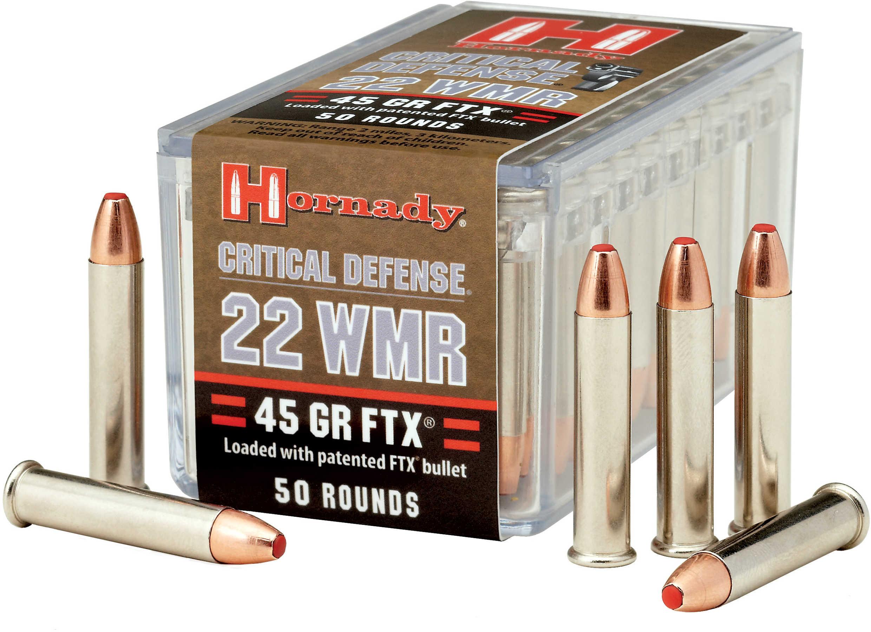 Hornady 22 WMR Critical Defense, 45 Grains FTX/50 83200