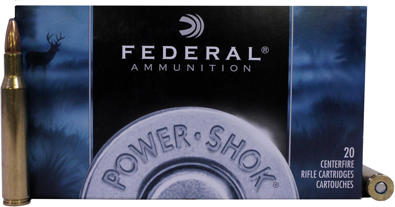 Federal Cartridge 270 Winchester 270 Win, 130grain, Power Shok Soft Point, (Per 20) 270A