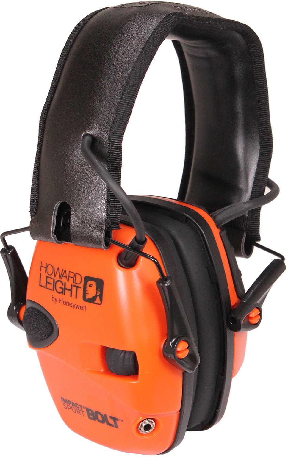 Howard Leight Impact Sport Bolt Earmuff Orange Electronic Folding R-02231