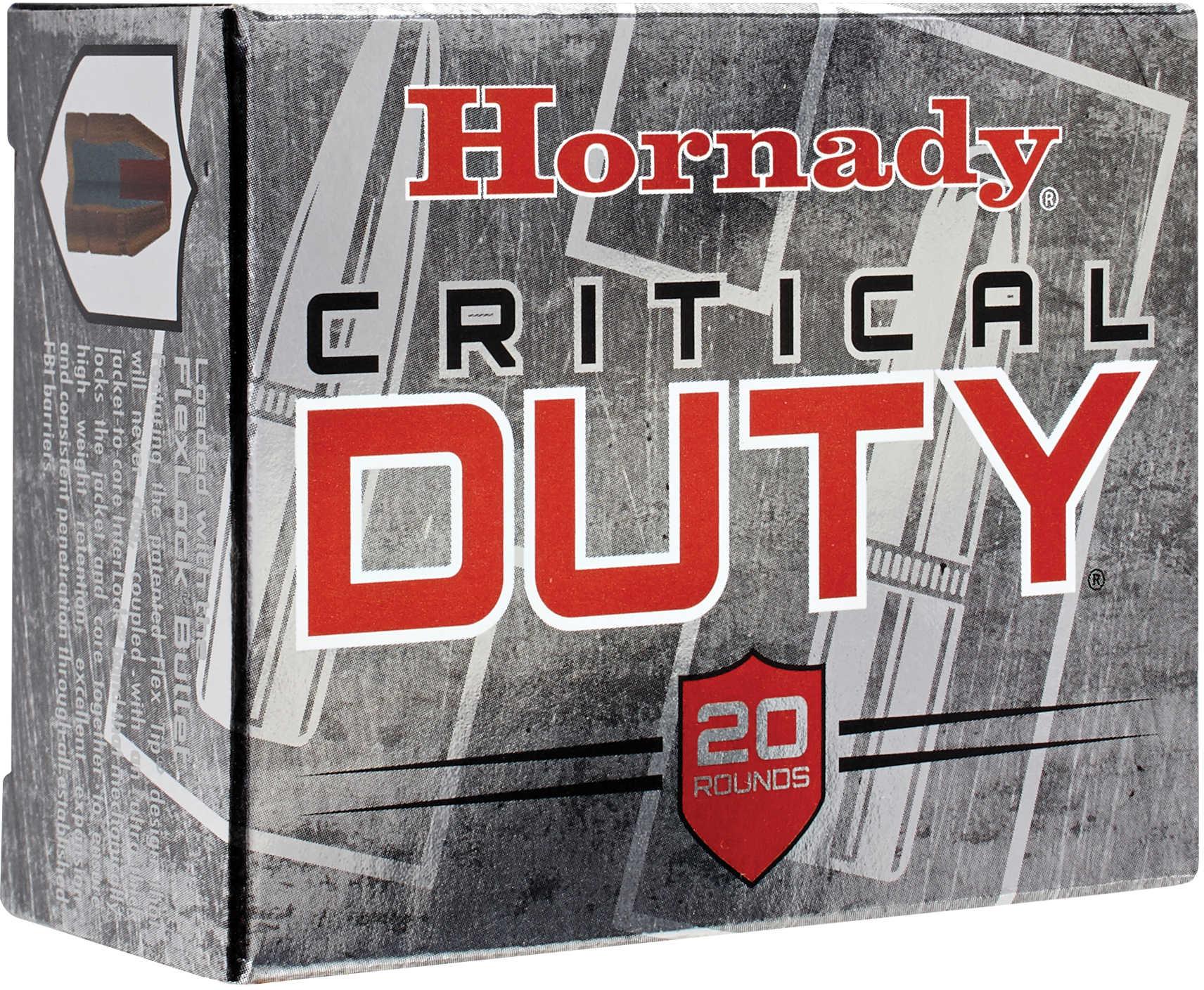 Hornady Critical Duty 9MM +P 124 Grain FlexLock Duty 25 Round Box 90216