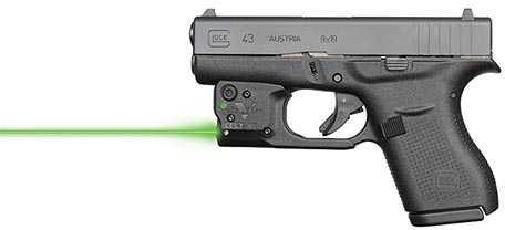 Reactor 5 Gen II Green Laser Glock 43 with ECR Instant On IWB Holster, Black