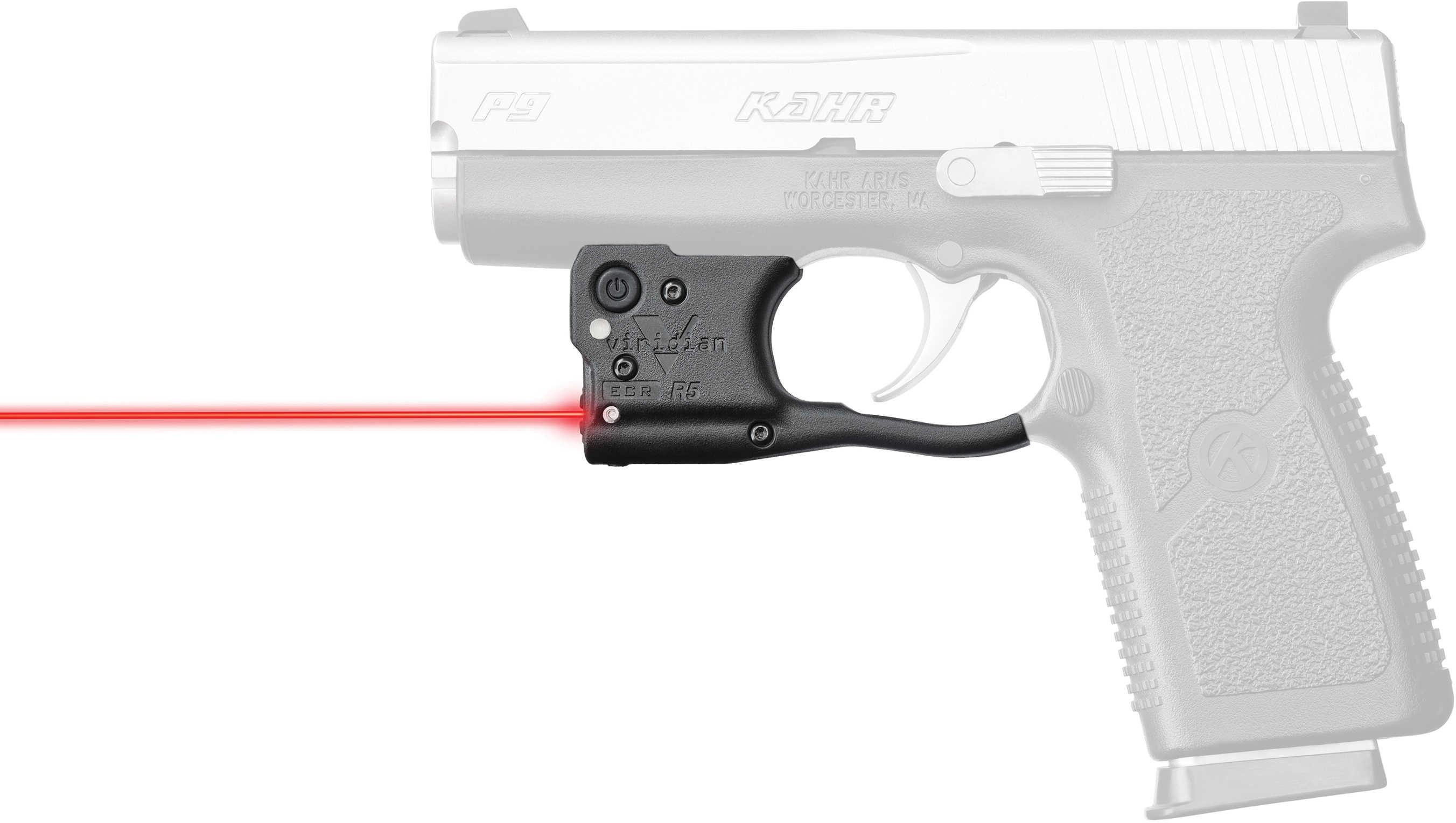 Reactor 5 Gen II Red Laser Kahr Arms 9mm/.40 with ECR Instant On Holster, Black
