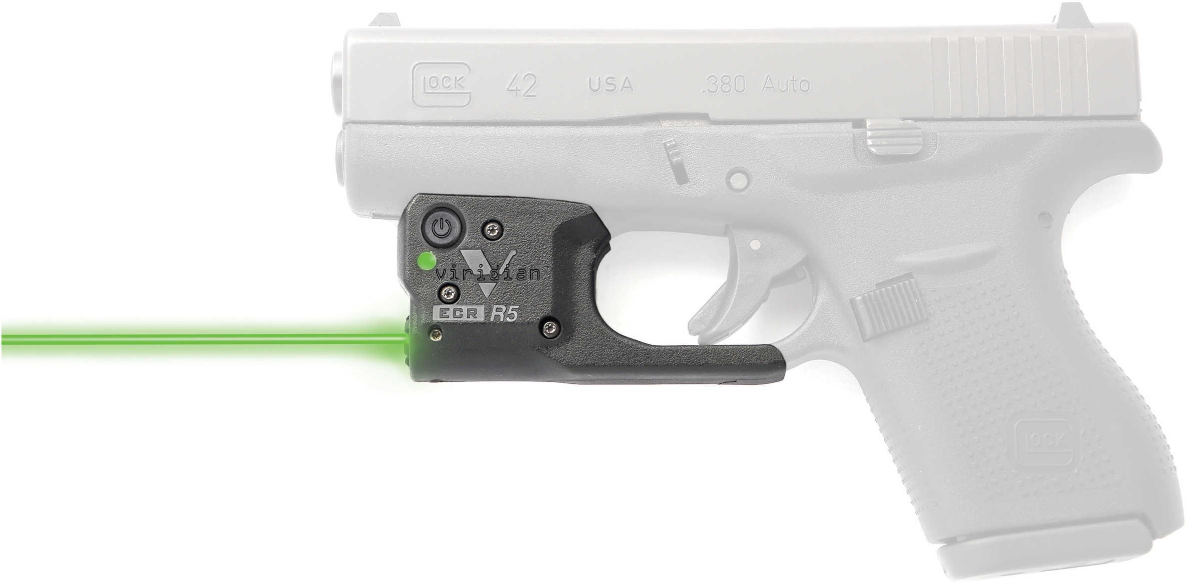 Reactor 5 Gen II Green Laser Glock 42 with ECR Instant On IWB Holster, Black