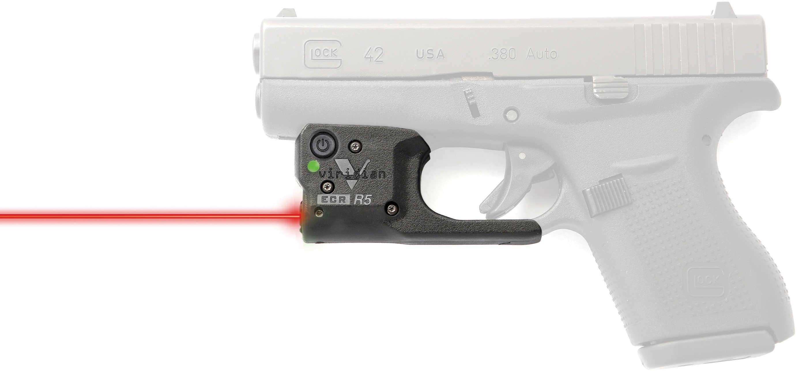 Reactor 5 Gen II Red Laser Glock 42 with ECR Instant On Holster, Black