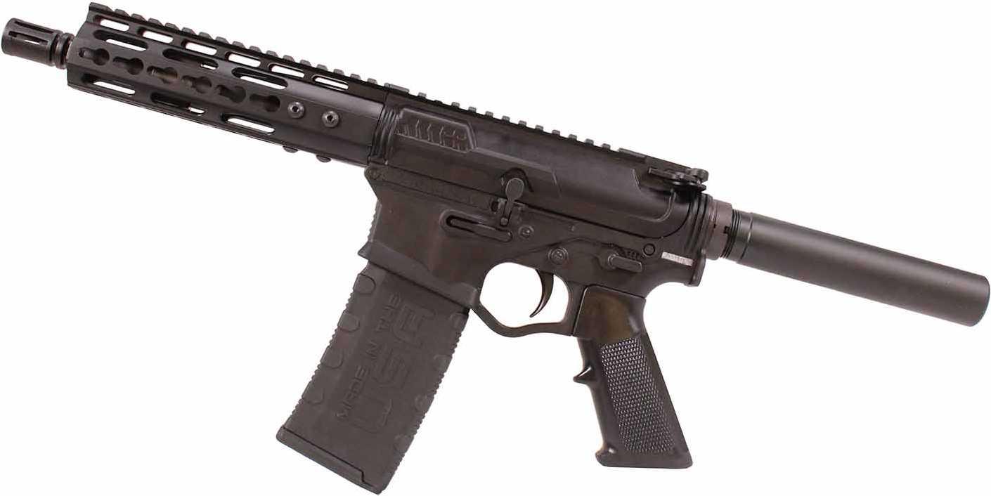 "ATI Tactical Omni Hybrid MAXX AR-15 Semi Automatic Pistol, 223/5.56 7.5"" Barrel, 7"" Keymod,"