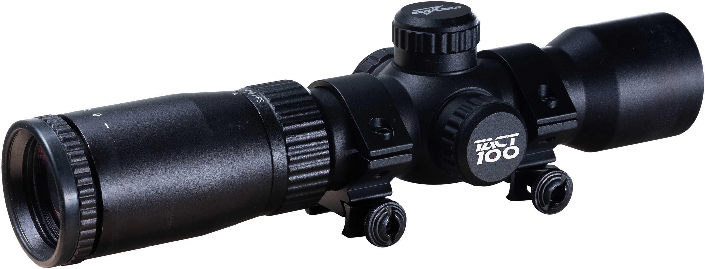 Excalibur Crossbow Tact 100 Scope, 1 5-5x32mm, Multi-Plex Reticle, Black