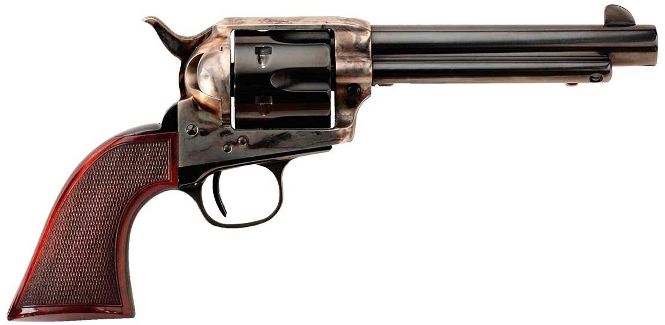 "Taylor's & Company The Smoke Wagon 357 Magnum 4.75"" Barrel 6 Round Single Action Case Hardened Revolver 4107"