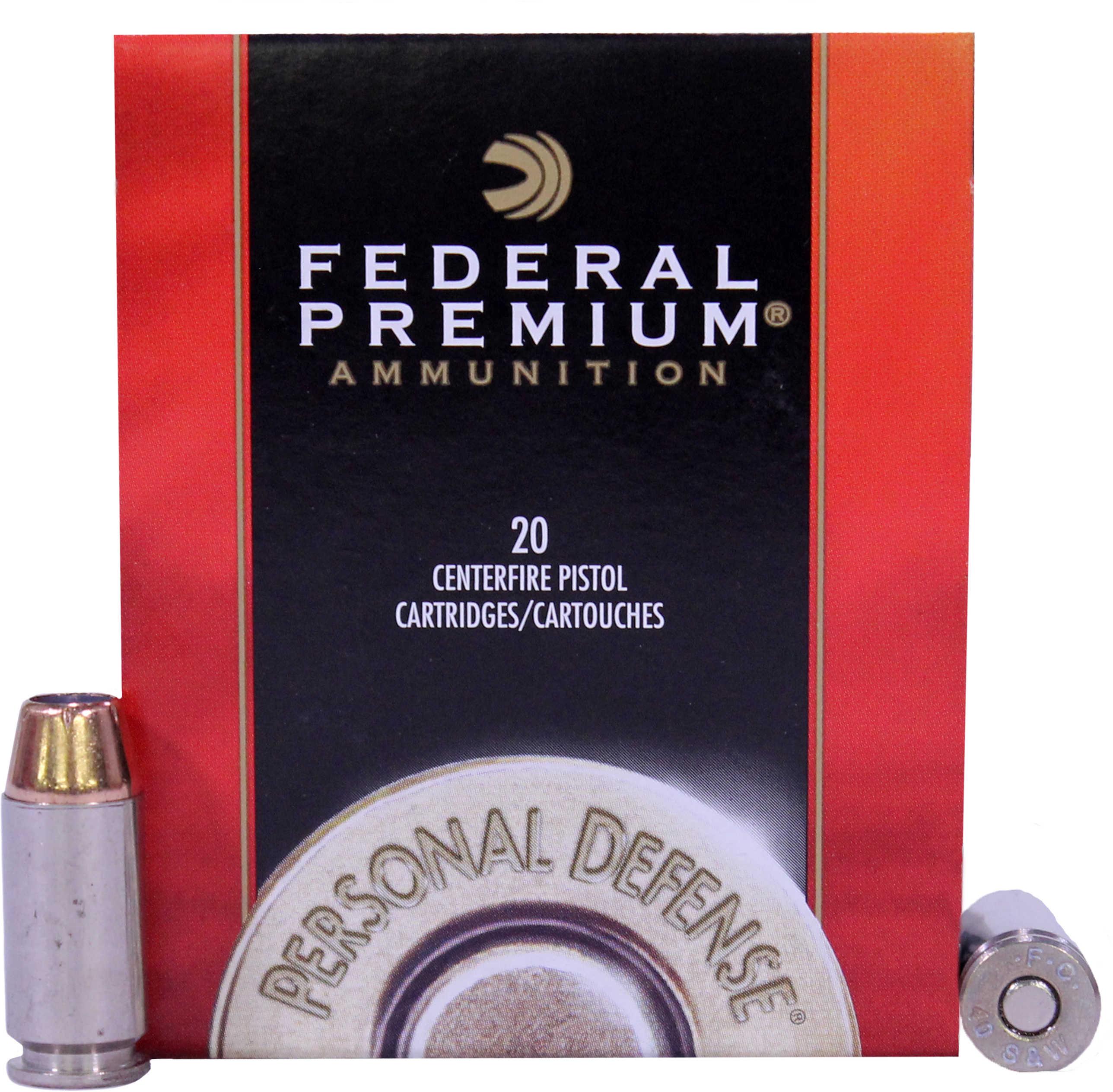 Federal Hydra-Shok 40S&W 165 Grain Hollow Point 20 Round Box P40HS3