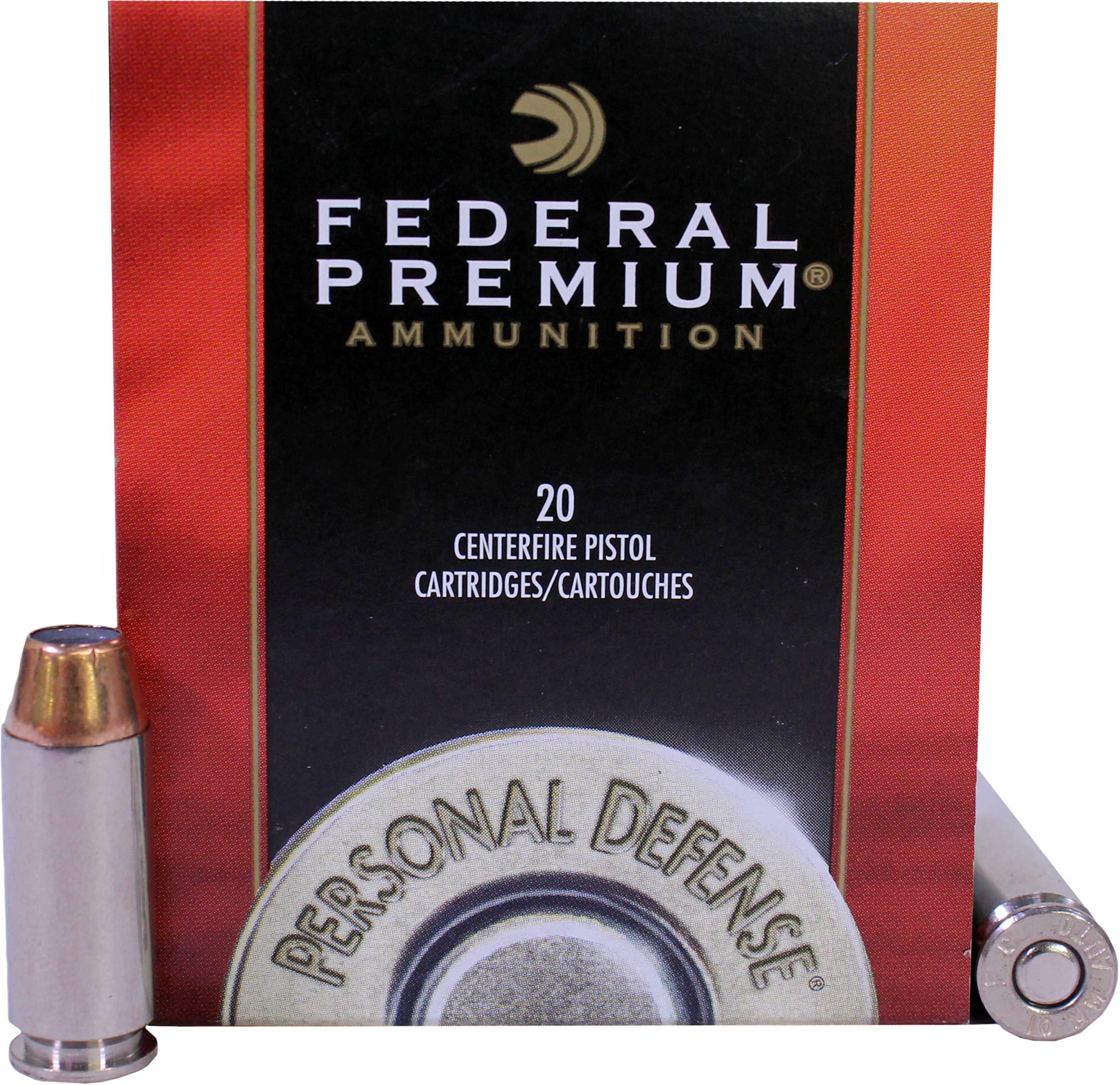 Federal Cartridge Premium Hydra-Shok 10mm, 180-Grain JHP (Per 20) P10HS1