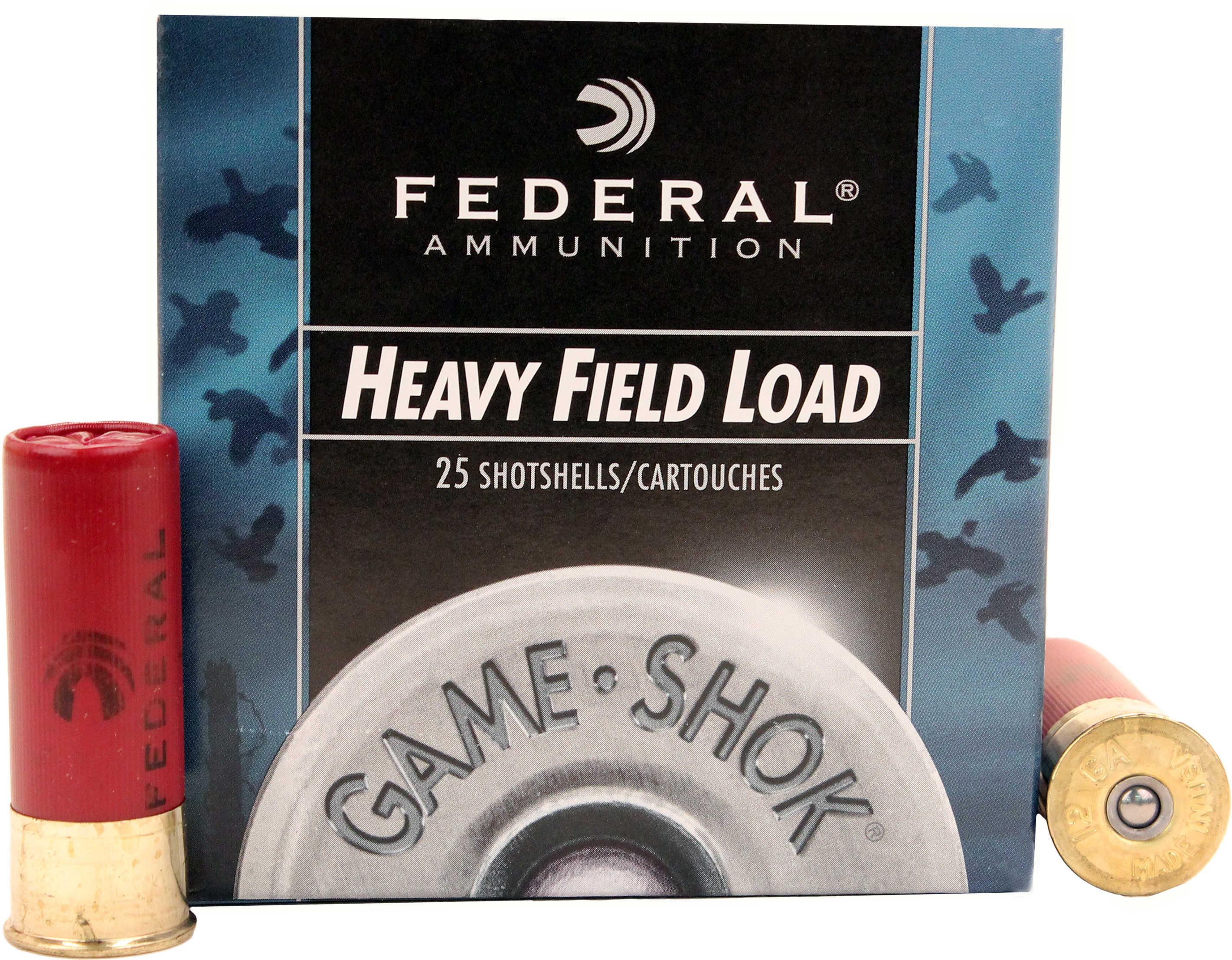 "Federal Cartridge 12 Gauge Shot shells Field 2 3/4"" 3 1/4 dram, 1 1/8oz 4 Shot (Per 25) H1234"