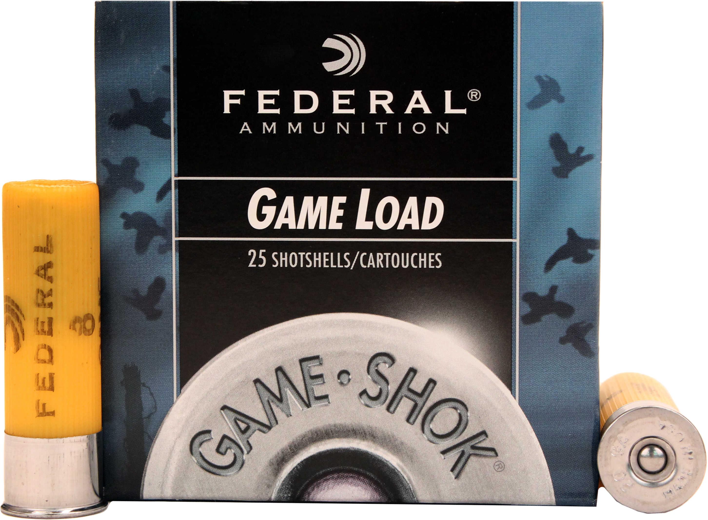 "Federal Cartridge 20 Gauge Shotshells Game Load 2 3/4"" 2 1/2 dram 7/8oz 8 Shot (Per 25) H2008"