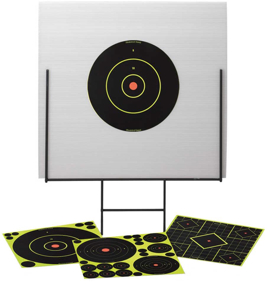 "Birchwood Casey Portable Shooting Range and Backboard 13 Shoot-N-C Targets 58 1"" Pasters 46101"