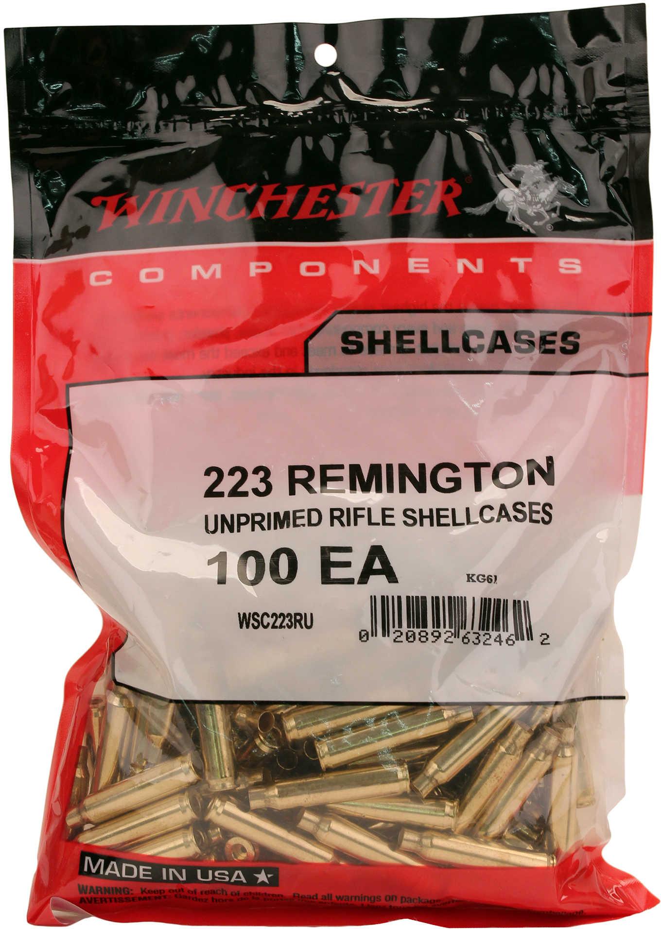 Winchester New Unprimed Brass 223 Remington (Per 100) WSC223RU
