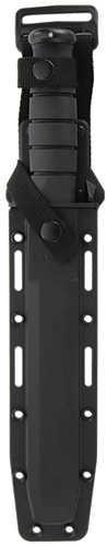"KABAR KA-BAR Tanto Fixed Blade Knife 1095 Cro-Van/Black Combo Tanto Point Glass Filled Nylon Sheath 7"" Black Kraton G Bo"