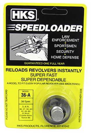HKS Speedloader 357 Magnum Fits S&W J Frame Taurus 605 Ruger Black 36A