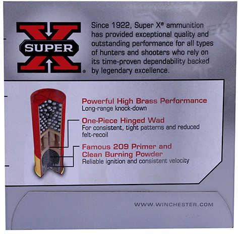 """Winchester Ammunition Super-X 12 Gauge 2.75"""" #6 3.75 Dram 1.25 oz. Shotshell 25 Round Box X126"""