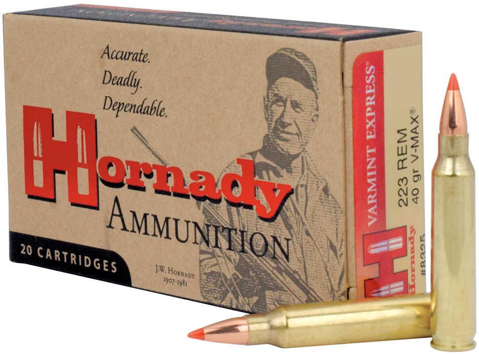 Hornady Varmint Express 223 Remington 40 Grain V-Max (Per 20) 8325