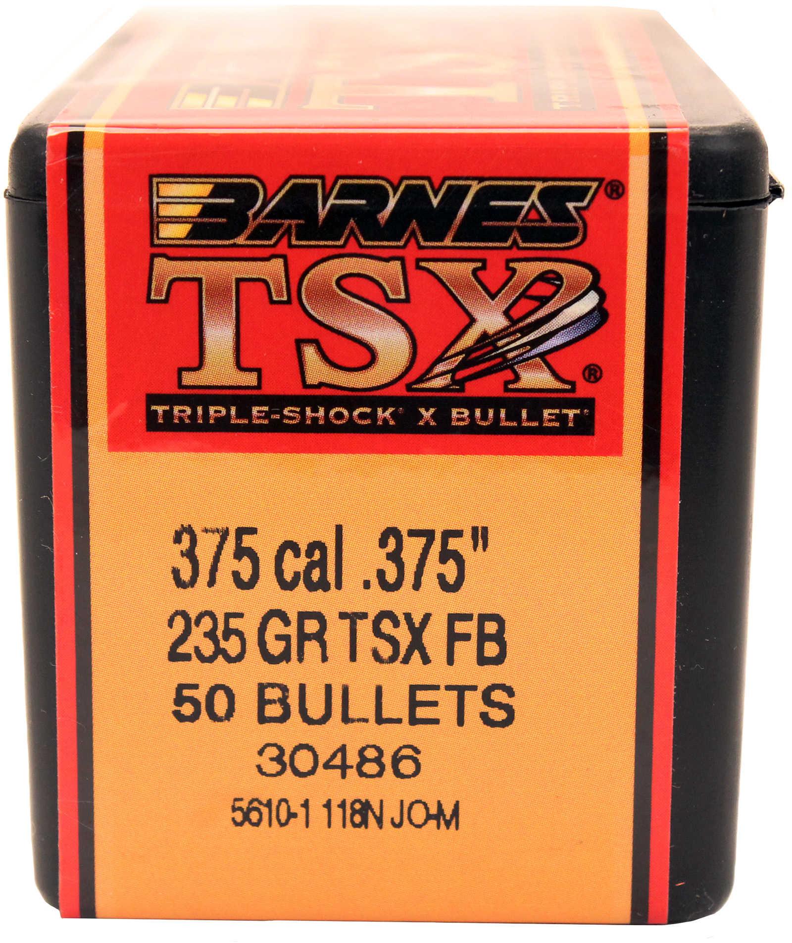 Barnes Bullets 375 Caliber 235 Grain Triple Shok X Flat ...