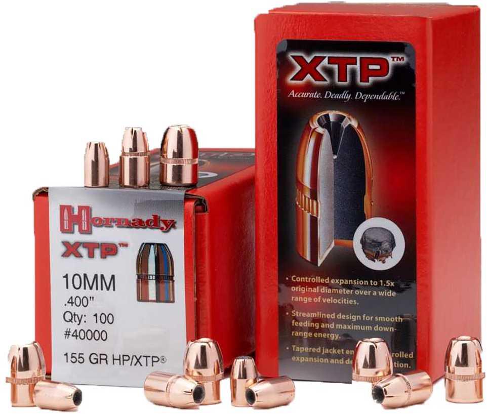 Hornady 10mm Bullets 155 Grains HP/XTP (Per 100) 40000
