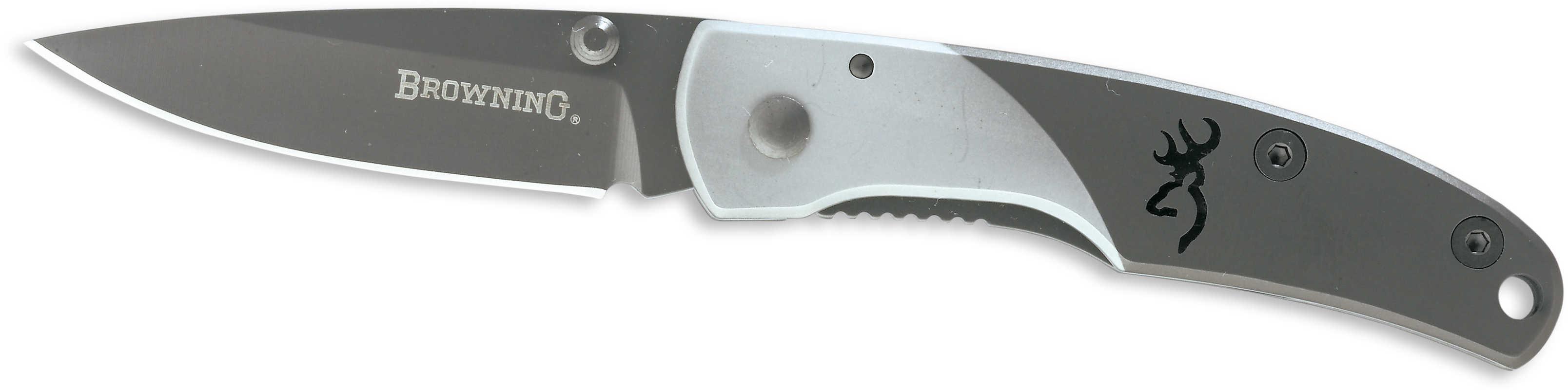 Browning Mountain Ti Folding Knife Small, Gray 322561