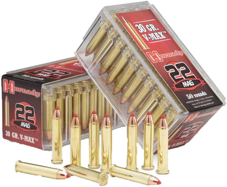 Hornady Hunting 22WMR 30 Grain V-Max 50 Round Box 83202