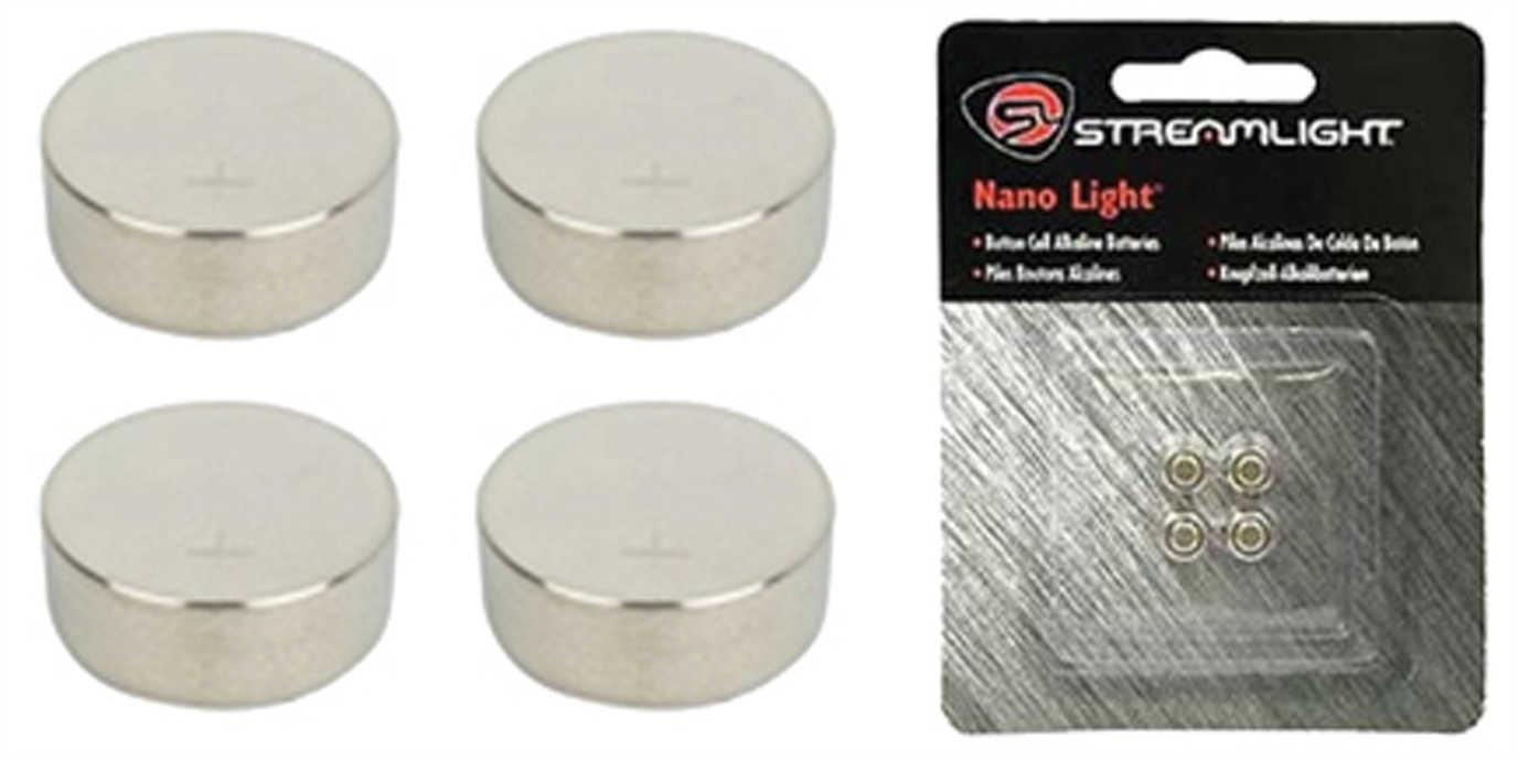 Streamlight Battery Fits Nano 4- Pack Silver 61205